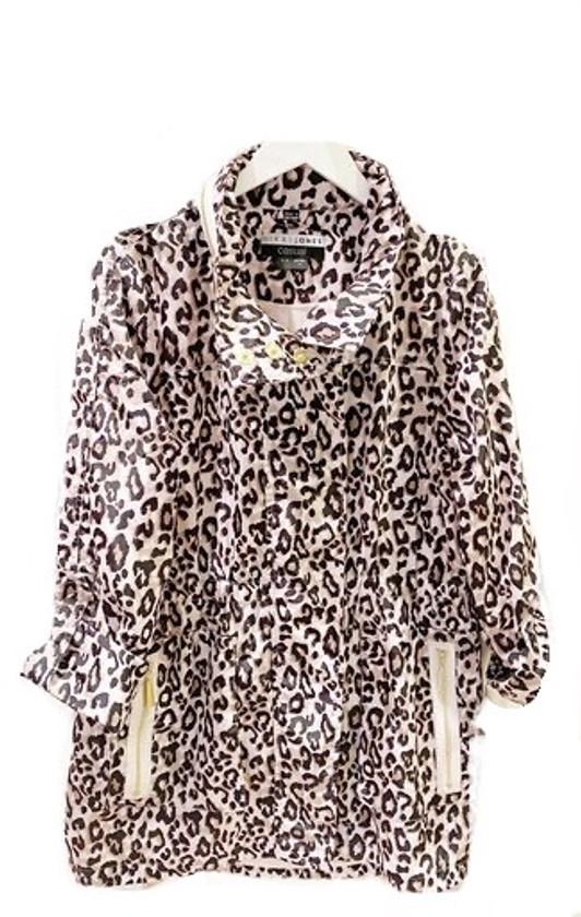 Quinn Rain Jacket- Blush Leopard