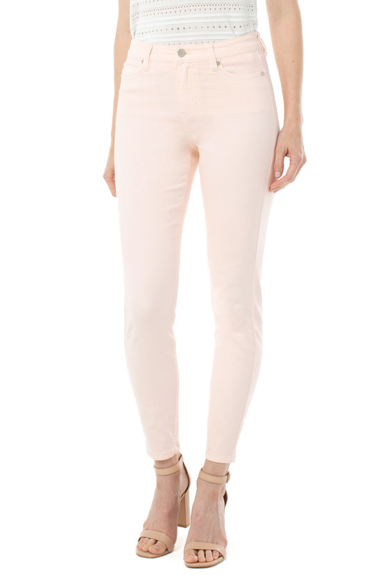 Abby Ankle Skinny Jean- Dawn Pink