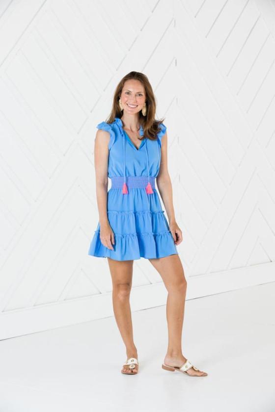 Flutter Sleeve Tiered Dress- Marina