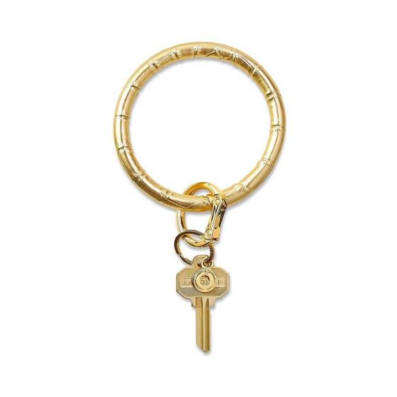 Big O Key Ring Leather- Solid Gold Rush Croc