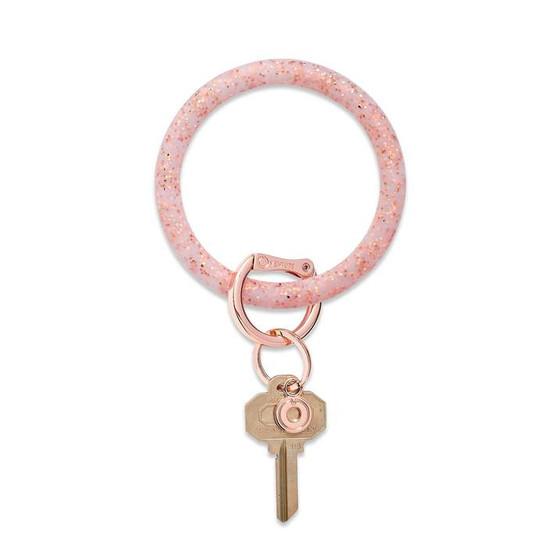 Big O Ring Silicone- Rose Gold Confetti