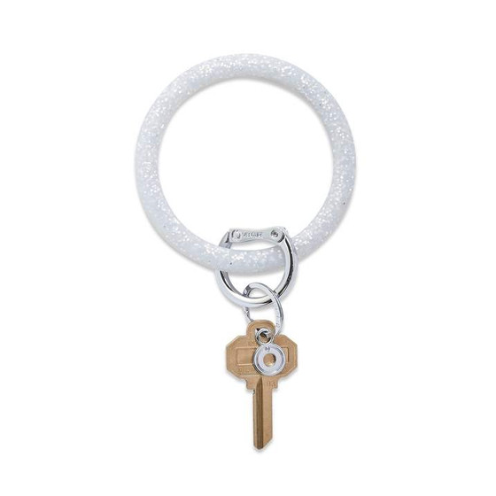 Big O Key Ring Silicone- Quicksilver Confetti