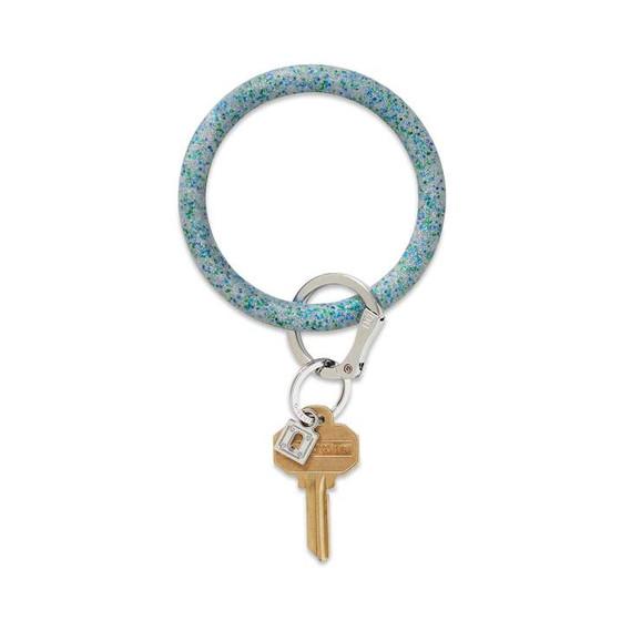 Big O Key Ring Silicone- Blue Frost Confetti