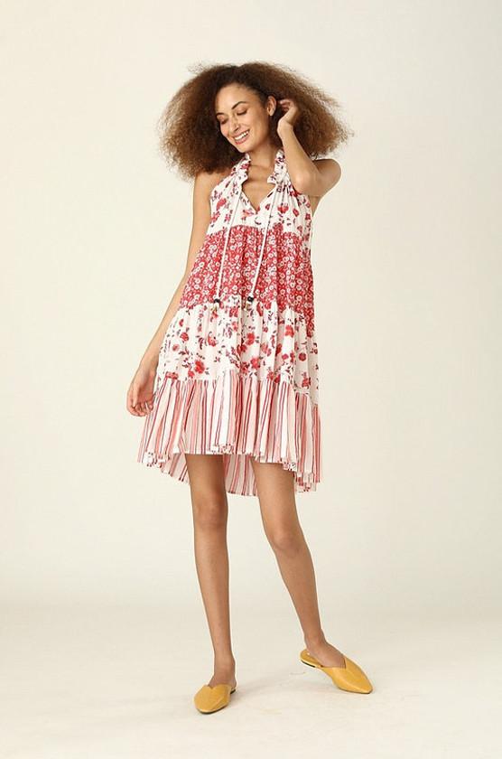 Sofia Short Dress- Provence Red