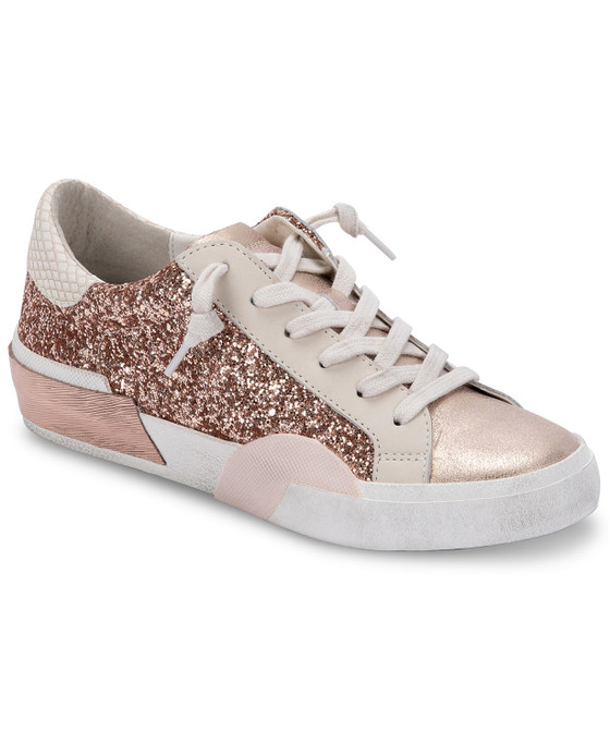 Zina Sneakers- Rose Gold Glitter