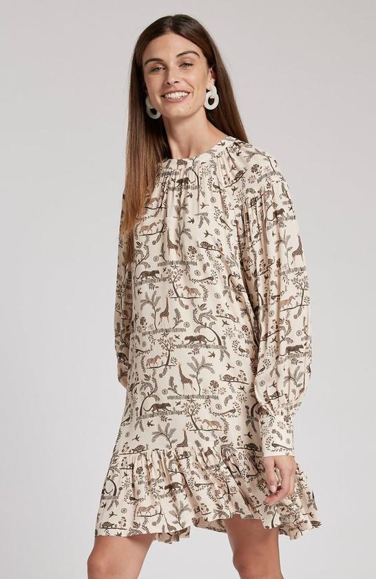 Fiona Animal Folklore Dress- Multi