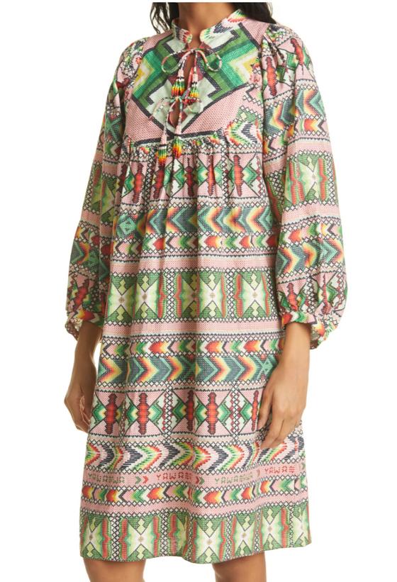 Amulet Midi Dress- Multi