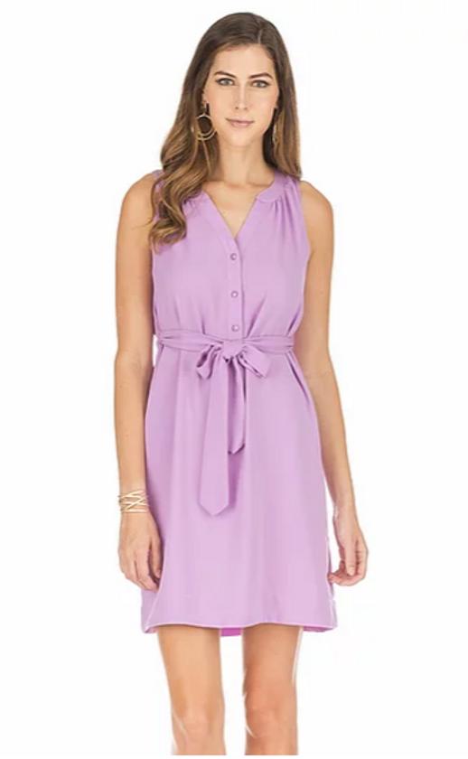 Tie Waist Dress- Lavender