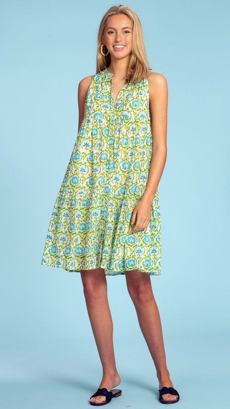 Ro Short Dress- Multi Climbing Vine