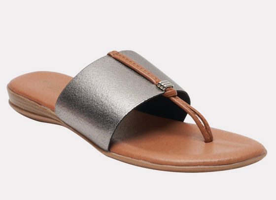 Nice Elastic Sandal-Pewter