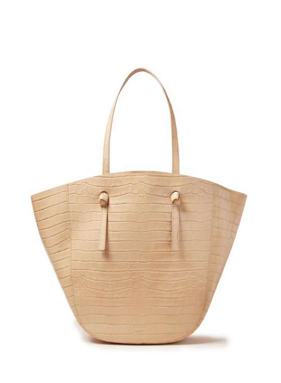 Katia Winged Tote with Knot- Almond