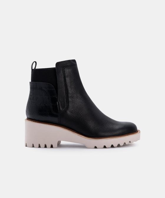 Huey Booties- Black Multi Leather