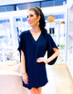 Meredith Dress- Navy Blazer