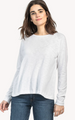 Long Sleeve Pleat Back Top- White