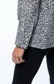 Carson Silk Blouse- Grey/Black Leopard