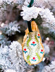 Oyster Shell Ornament- Vintage Holly