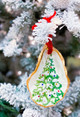 Oyster Shell Ornament- Christmas Tree Sparkle