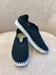 Tulip Slip-On Shoe- Black