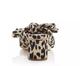 Emilia Pleated Knot Mule- Leopard