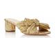 Emilia Pleated Knot Mule- Gold