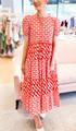 Daphne Dress- Phoenix Red & Pink