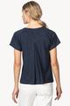 Short Sleeve Pleat Back Top- Dark Navy