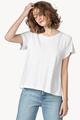 Short Sleeve Pleat Back Top- White