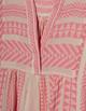 Ella Midi Dress- Pink/Off White