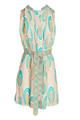 Apatite Dress- Nude/Turquoise Ikat