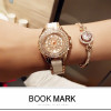Fashion Watch Women Luxury Brand Crystal Dress Watch Shinning Diamond Rhinestone Ceramic Wristwatch Quartz Watch For Party