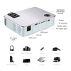 AUN Full HD Projector. AKEY5 UP. 1920*1080P, 3,800 Lumens, Android Beamer with WIFI, Bluetooth, LED TV. Optional AKEY5 IMP-5803