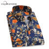 2018 Retro Floral Printed Men Casual Shirts Classic Men Dress Shirt Men's Long Sleeve Brand New Fashion Spring Shirts YN10015