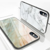 Lovebay Marble Glass Case For iPhone X 8 7 6 6s Plus 9H Hardness Tempered Glass Hard Phone Case Cover Back Cases