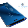 Smart Flip Stand Mirror Case For Samsung A6 2018 Luxury PU Leather Clear View Fundas Coques For Galaxy J6 Plus Phone Back Case