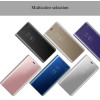 Smart Mirror Flip Case For Samsung Galaxy S8 S8 Plus Cover Luxury Slim Clear View Plating PU Leather Phone Cases Shell Fundas