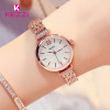 Kezzi Brand Quartz Watch Fine Rhinestone Bracelet Watch Luxury Full Stainless Steel Watch Women Dress Watch Relogio Feminino