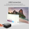 VIVIBRIGHT LED Projector GP80 / UP. 1800 Lumens. (Optional Android 6.0.1, WIFI, Bluetooth Simple Beamer) Support Full HD, 1080P