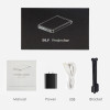 Poner Saund DLP100WM MINI Projector Android Beamer Built-in WIFI Bluetooth, 2000mAH Battery HDMI Support 1080P, Portable Theater