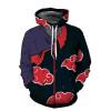 Naruto Hoodie Coat Sweatshirts Kakashi Akatsuki Sasuke O'Brien 3D Hoodies Pullovers Men Women Long Sleeve Outerwear Hoodie