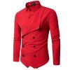 Men Shirt 2018 Spring New Brand Men's Slim Fit Dress Shirt Male Long Sleeves Fake two Casual Shirt Camisa Masculina Size M-XXL