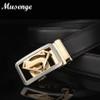 Musenge Male Genuine Leather Designer Belts Men High Quality Men's Belt Luxury Automatic Buckle Belts For Men Cinturones Hombre