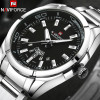 NAVIFORCE Brand Men Watches Business Quartz 30M Waterproof Watches Men's Stainless Steel Band Auto Date Wristwatches Relojes