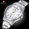 NAVIFORCE Mens Watches Top Brand Luxury Quartz Watches Men Fashion Business Male Clock Date Display Full Steel Montre Homme