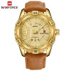 NAVIFORCE Top Luxury Brand Men Leather Gold Watch Men's Quartz Date Clock Man Sports Waterproof Wrist Watches relogio masculino