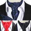 LJC 10 Colors Men's Floral Polka Dot Vintage Wedding Formal Cravat Ascot Self British style Gentleman Silk Vintage Neck Tie