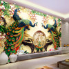 Custom 3D Wall Mural Wallpaper 3D Non-woven Peacock Living Room TV Background Large Wall Painting Murales De Pared 3D Wallpaper