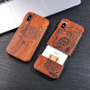 Natural Wood Case For iphone X 8 7 6 6s Plus SE 5 5s Samsung Galaxy Note 8 S6 S7edge S8 S9Plus Cover Retro Embossed Wooden Coque