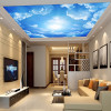 Modern 3D Photo Wallpaper Blue Sky And White Clouds Wall Papers Home Interior Decor Living Room Ceiling Lobby Mural Wallpaper