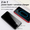 Baseus 8000mAh QI Wireless Charger Power Bank For iPhone XS Max Xiaomi LCD Dual USB External Battery Wireless Charging Powerbank