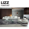 Leather Furniture Arc C Shape Sectional Sofa Set For Living Room Modern Couch Corner Sofa For Hotel